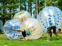bubble soccer bulle