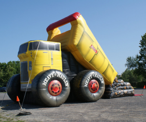 glissade camion minier