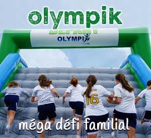 Les Olympik Proludik, course gonflable avec canon à mousse. Réservez vos jeux gonflables à Québec et Montréal